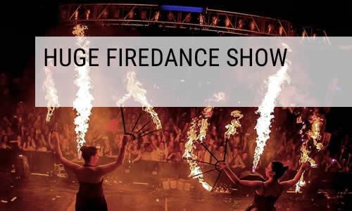 huge firedance show