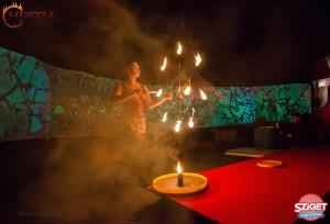 Hestia tűzzsonglőr a Sziget Fesztiválon